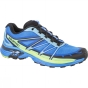 Salomon Mens Wings Pro 2 Shoe Bright Blue/Black/Tonic Green