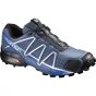 Salomon Men Speedcross 4 Shoe Slateblue / Black