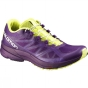 Salomon Womens Sonic Pro Shoe Cosmic Purple / Gecko Green