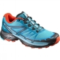 Salomon Womens Wings Pro Shoe Blue Jay / Fog Blue
