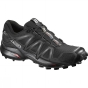 Salomon Womens Speedcross 4 Shoe Black / Black