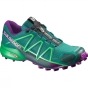 Salomon Womens Speedcross 4 Shoe Veridian Green / Athletic Green X