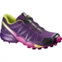 Salomon Womens Speedcross 4 Shoe Cosmic Purple / Deep Dalhia