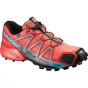 Salomon Womens Speedcross 4 GTX Shoe Coral Punch / Black