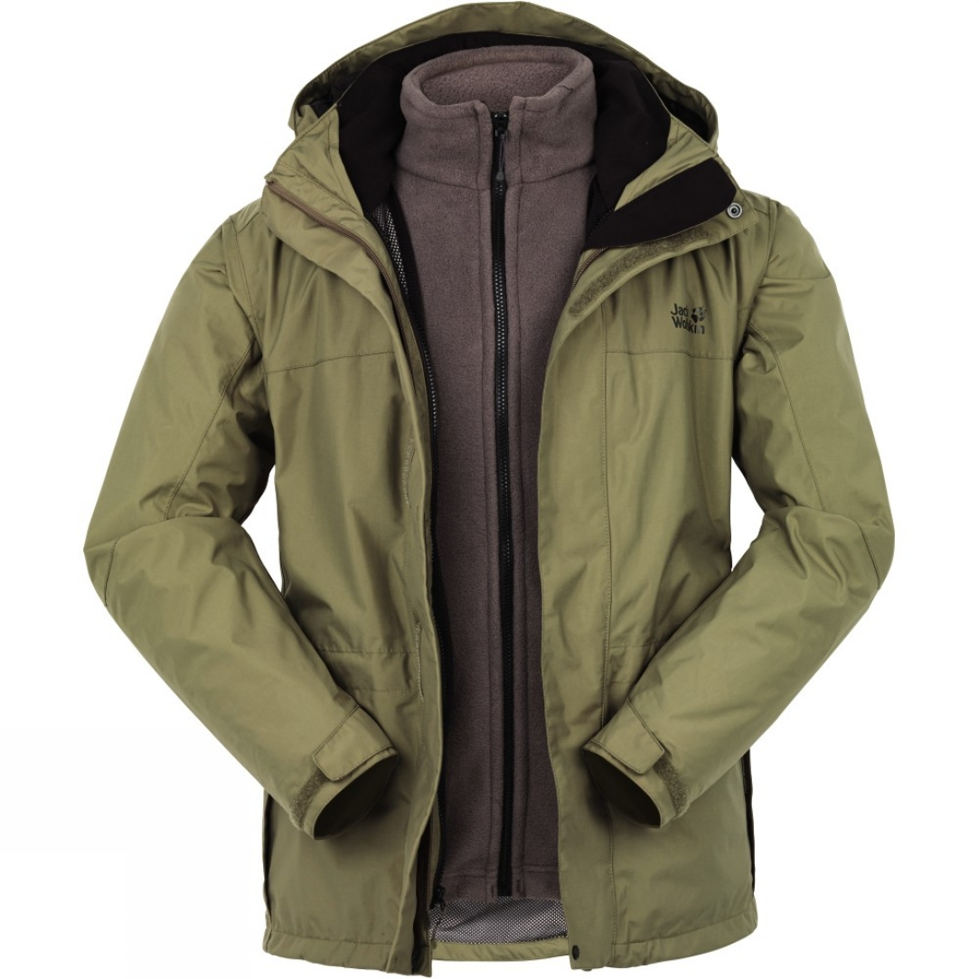 jack wolfskin mens mountain creek 3 in 1 jacket cotswold. Black Bedroom Furniture Sets. Home Design Ideas