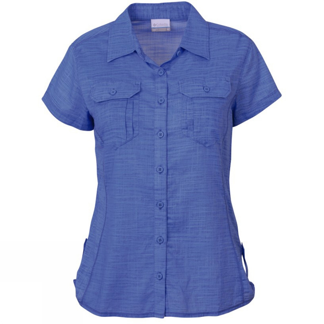 Columbia Women 39 S Camp Henry Solid Short Sleeve Shirt