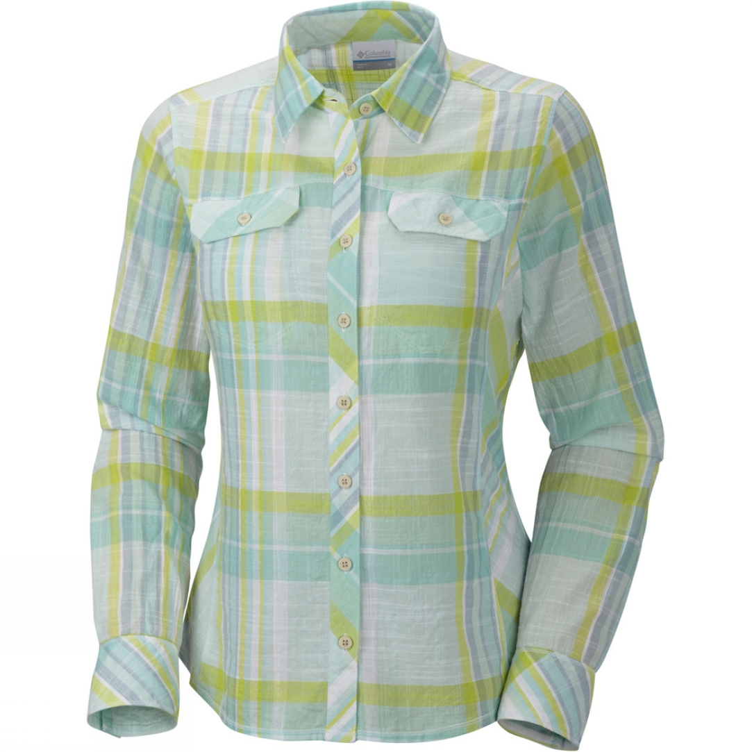 Columbia womens camp henry long sleeve shirt cotswold outdoor for Women s long sleeve camp shirts