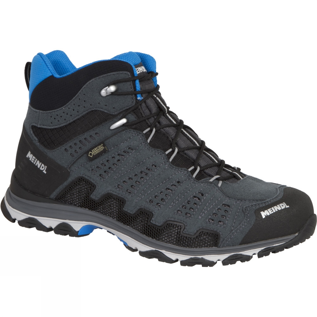 Meindl Mens X-SO 70 Mid GTX Boot Anthracite/Blue